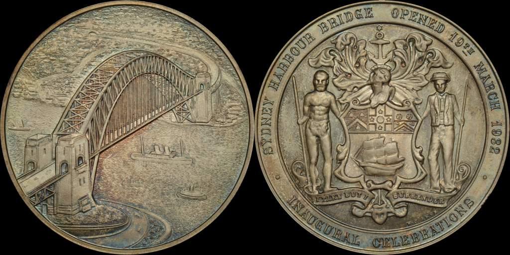 Australia Sydney Harbour Bridge Silver Medal 1932/5