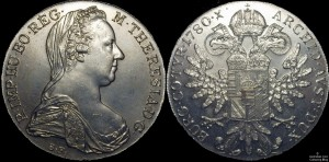 Austria 1780 Maria Theresa Taler Restrike