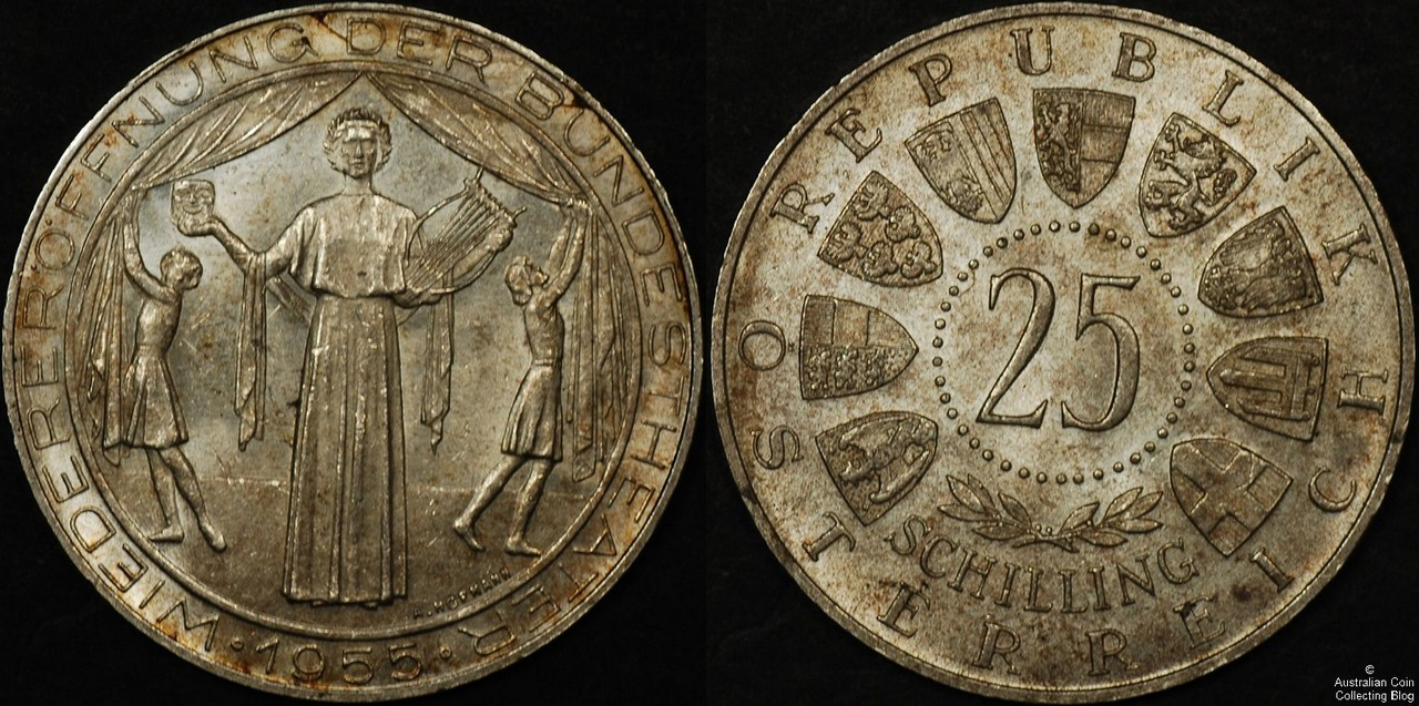 Austria 1955 25 Schilling CHUNC