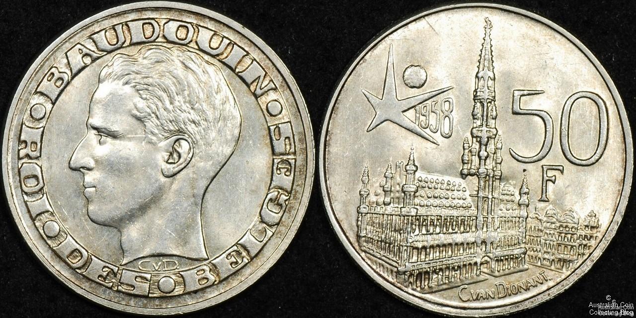 Belgium 1958 50 Franc UNC