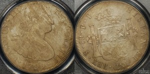 Bolivia 1799PP 8 Reales PCGS Environmental Damage