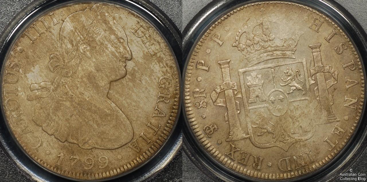 Bolivia  1799 8R PCGS Env Damage AU Details