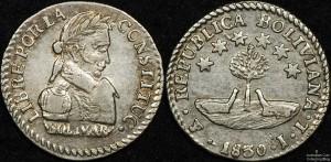 Bolivia 1830IL Half Sol