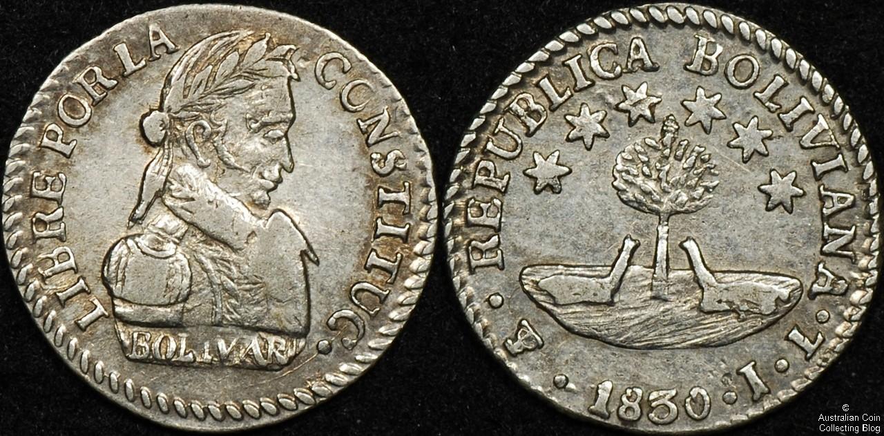 Bolivia  1830 1/2 Sol VF