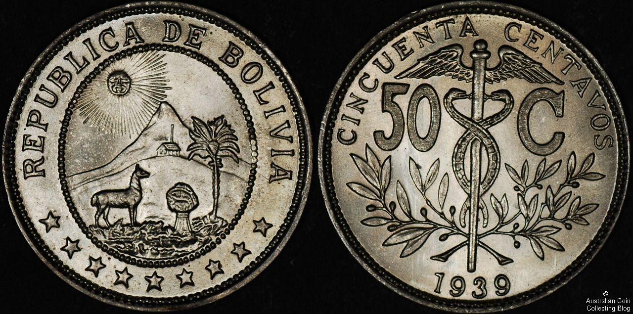 Bolivia 1939 50c UNC