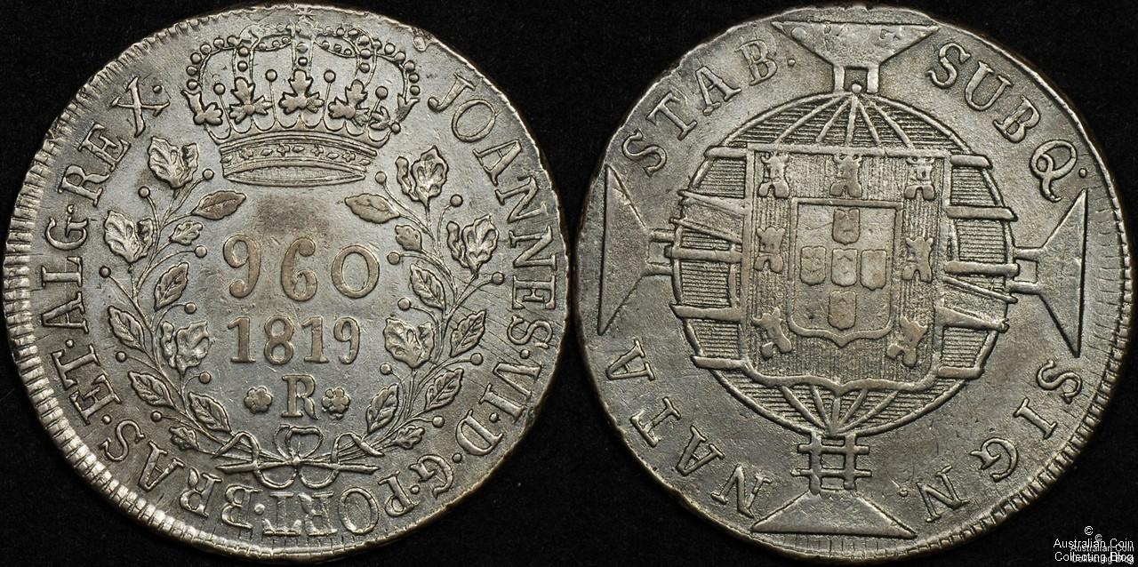 Brazil 1819 960R aEF