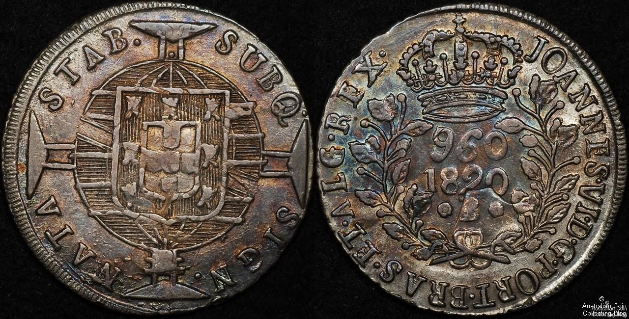 Brazil 1820 960R gVF