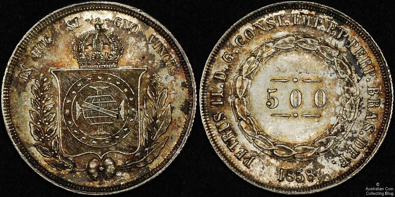Brazil  1858 500R UNC
