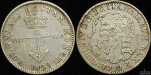 British West Indies 1822 1/8 Dollar