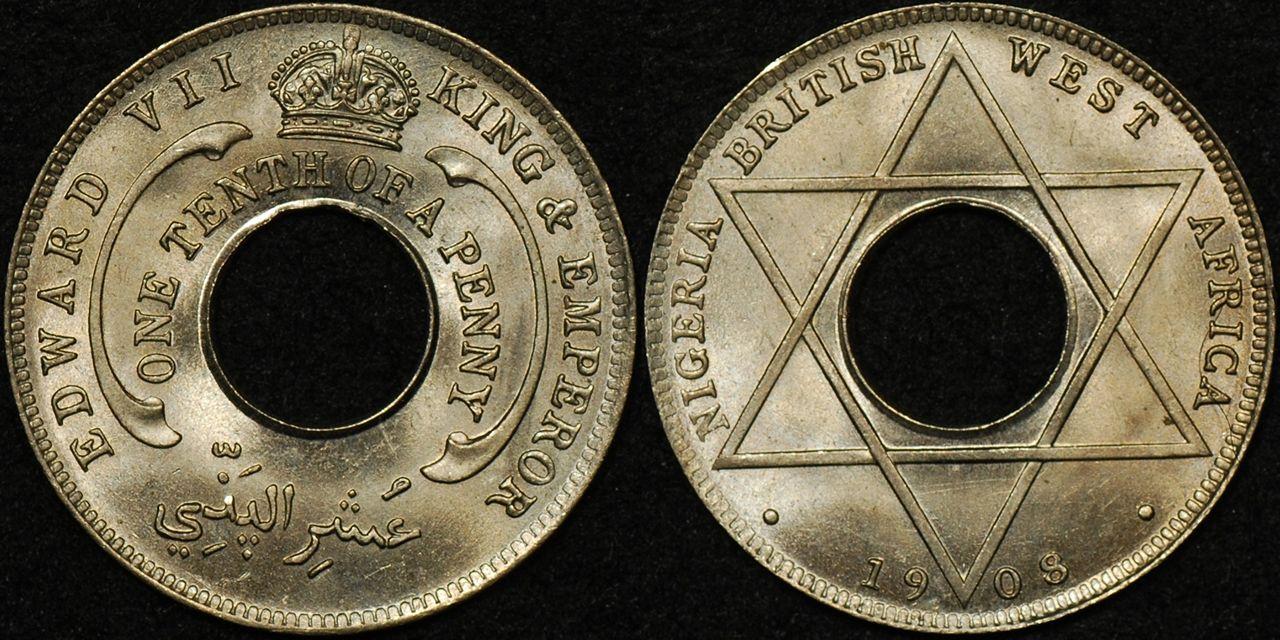 British West Africa 1908 1/10d