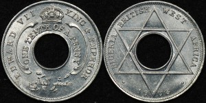 British West Africa 1908 1/10d Aluminium