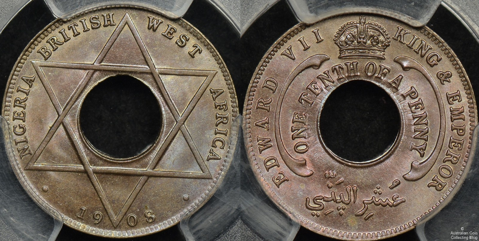 British West Africa Copper Nickel 1908 Tenth Penny