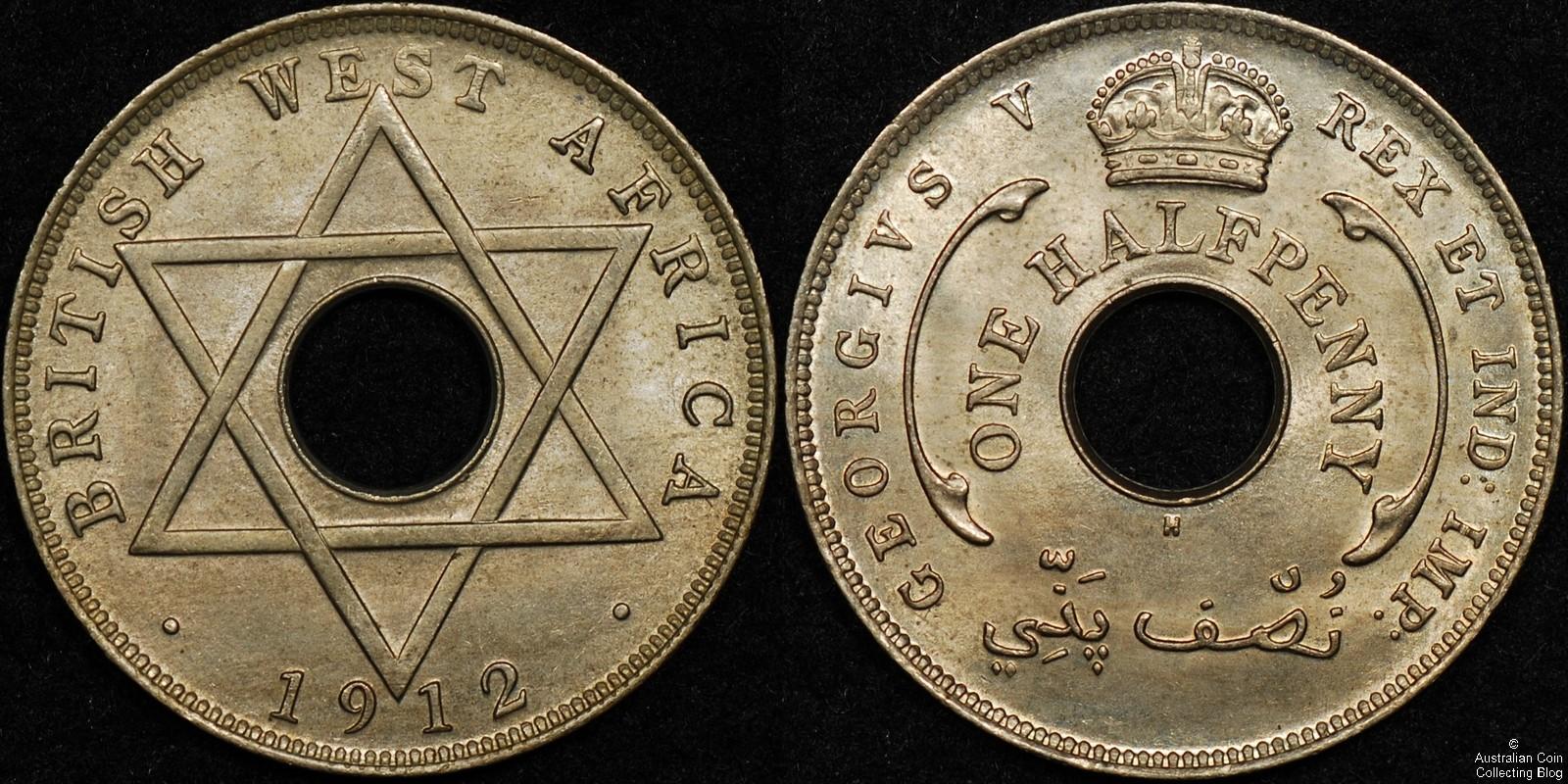 British West Africa 1912 1/2d