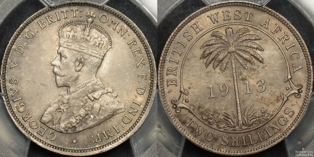 British West Africa 1913 Florin PCGS MS64