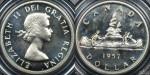 Canada 1957 $1 PCGS PL66