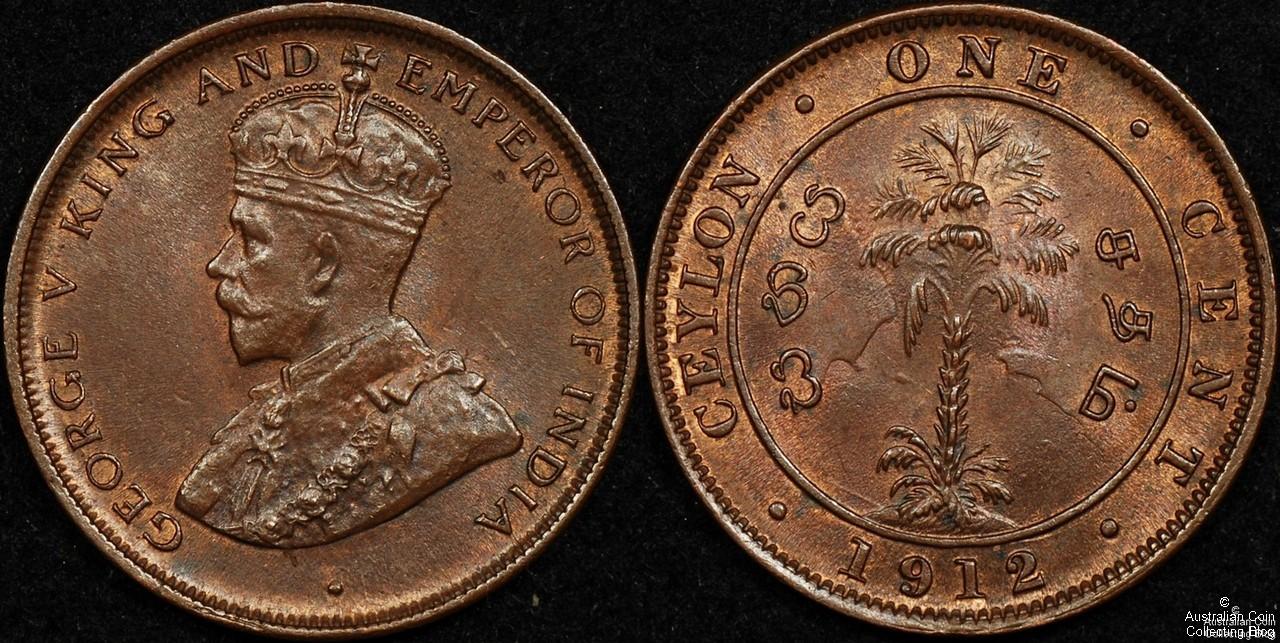 Ceylon 1912 1c CHUNC