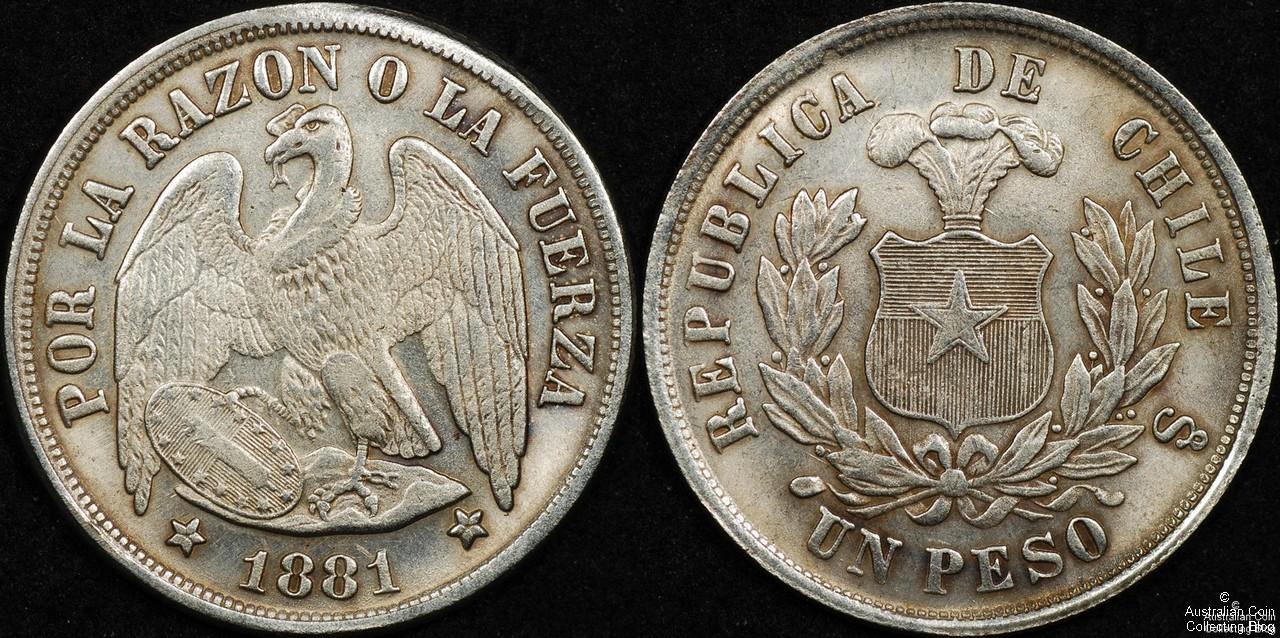 Chile 1881 Peso VF