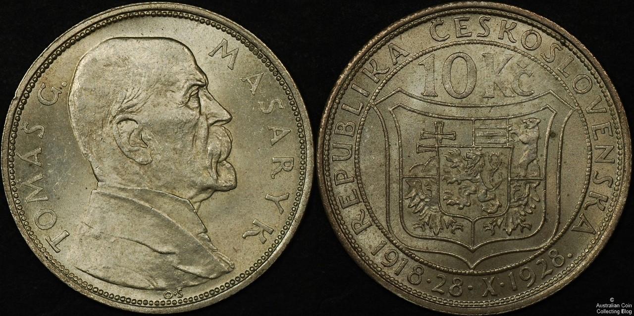 Czechoslovakia 1928 10 Koruna UNC