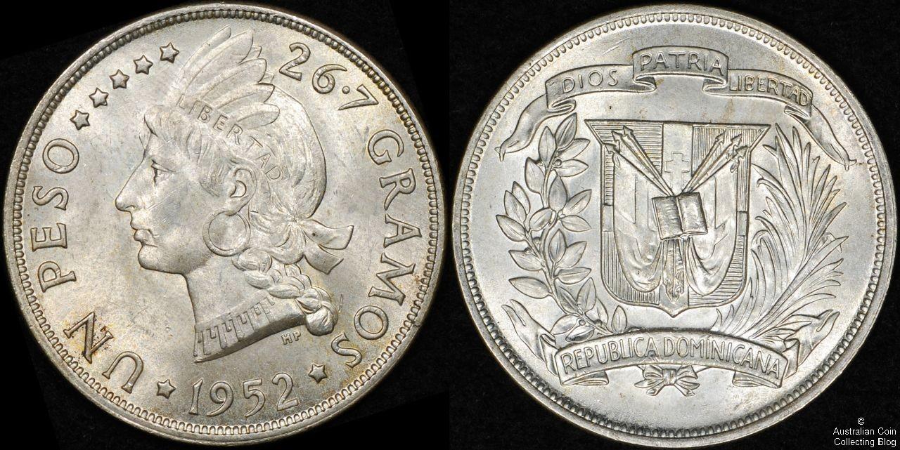 Dominican Republic 1952 Peso UNC