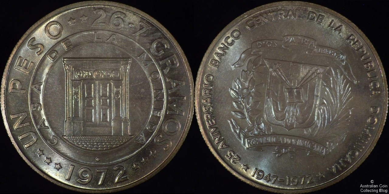 Dominican Republic 1972 1 Peso PCGS MS66