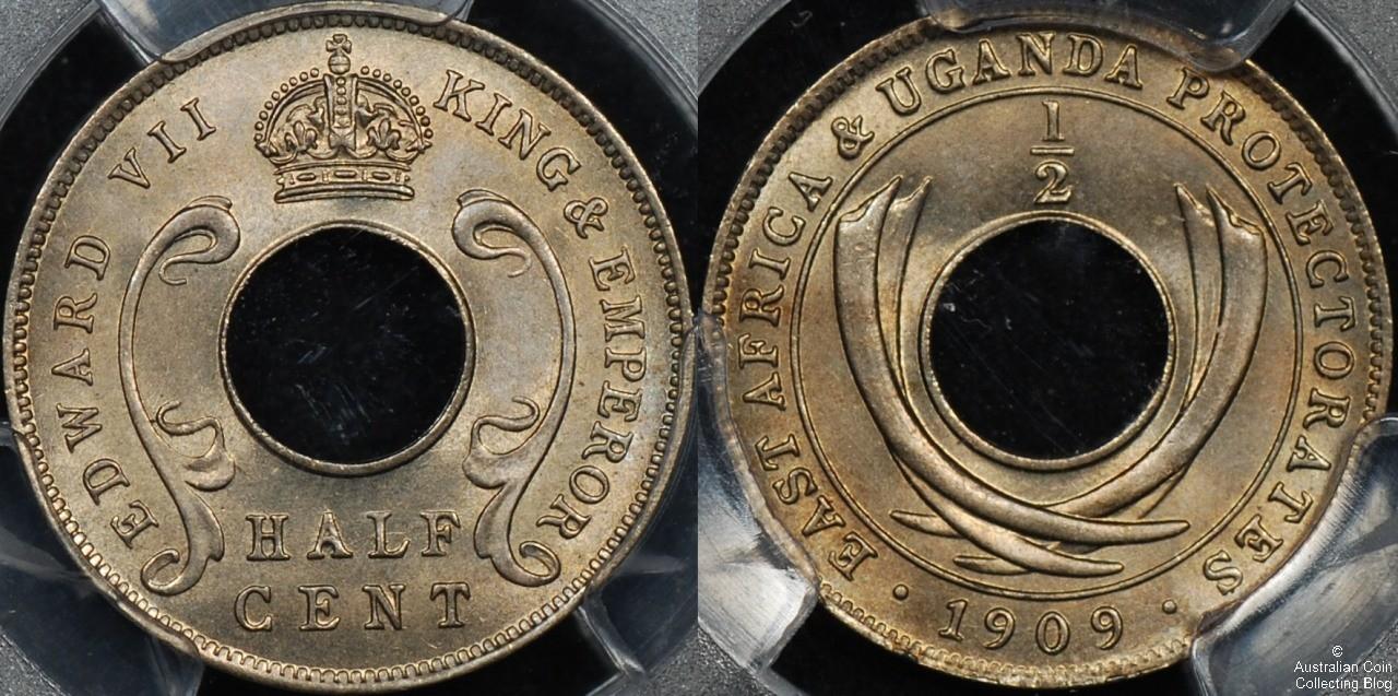 East Africa 1909 1/2c PCGS MS66