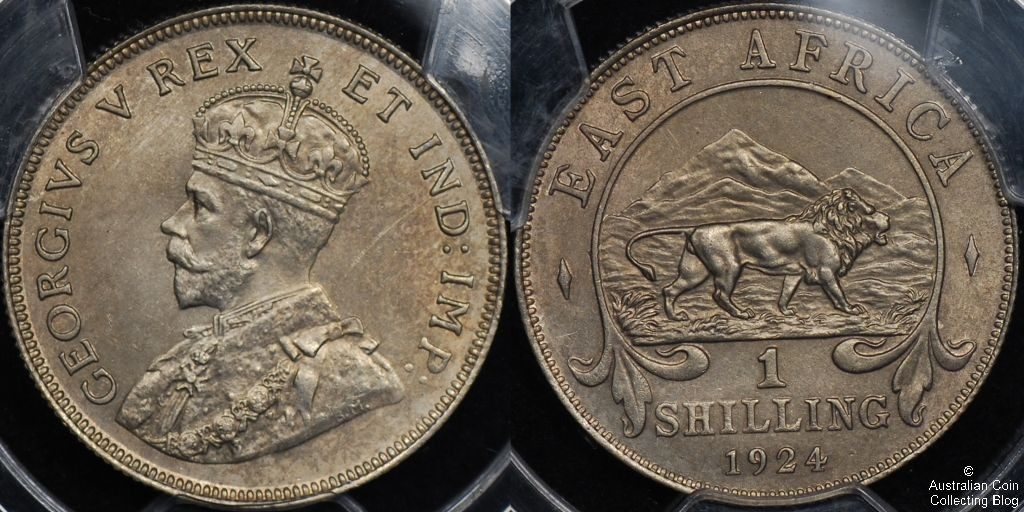 East Africa 1924 1s PCGS Cleaned