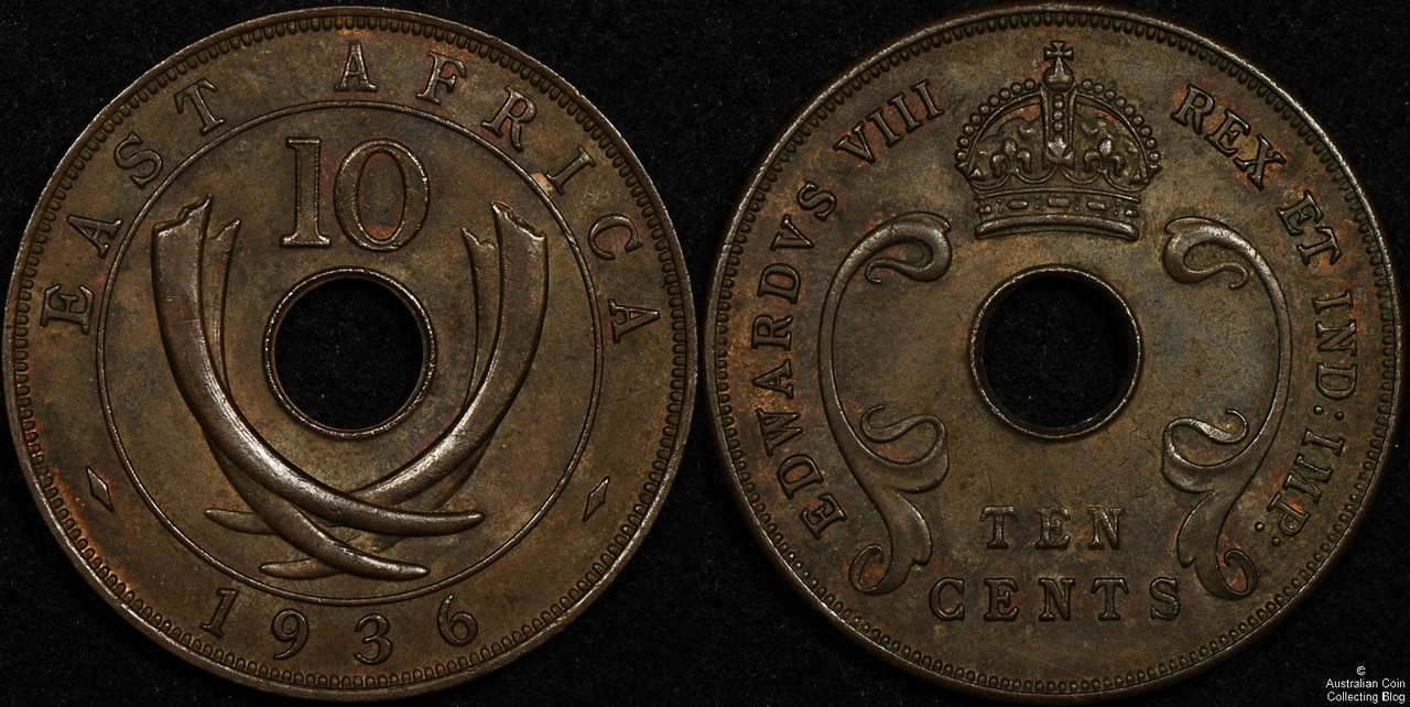 East Africa 1936 10c VF