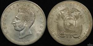 Ecuador 1943 5 Sucres