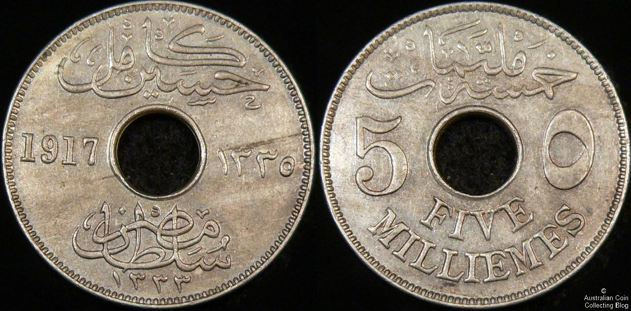 Egypt 1917 5 millemes UNC