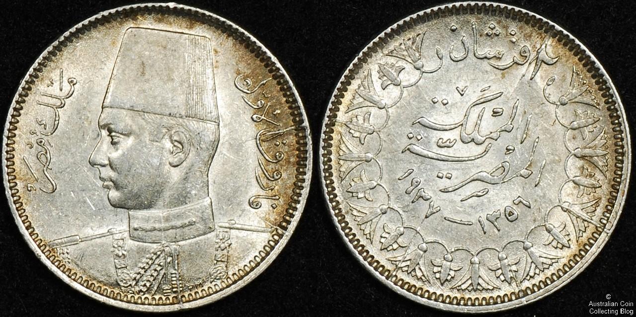 Egypt 1937 2 Piastres AU