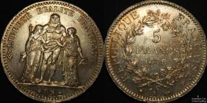 France 1876 5 Francs