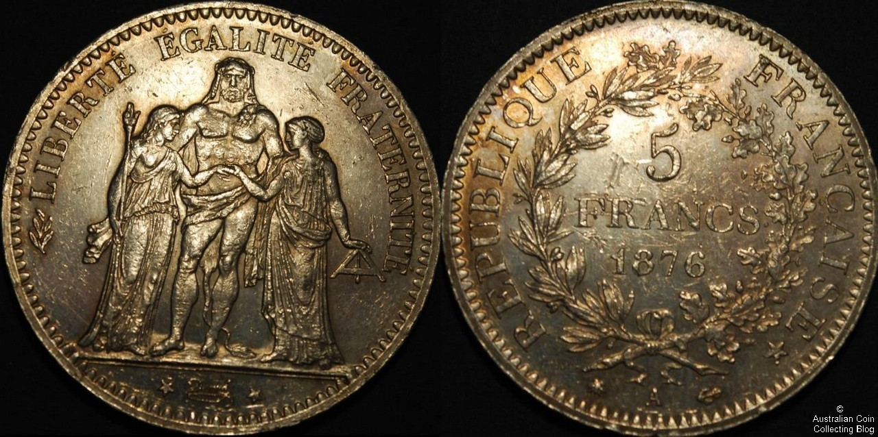 France 1876A 5F EF