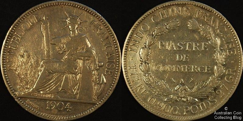 France 1904 1 Piastre F