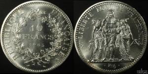 France 1965 10 Francs