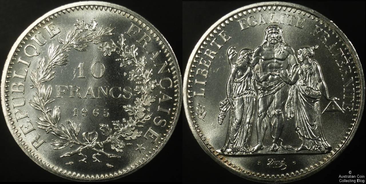 France 1965 10 Francs PCGS MS65