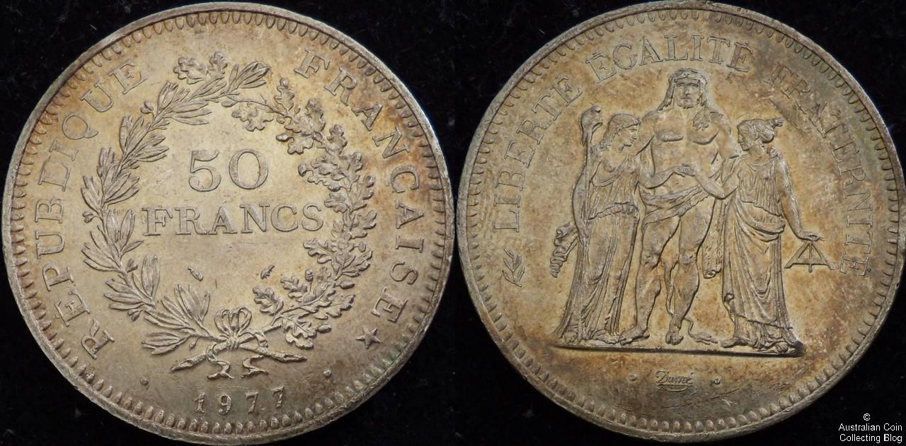France 1977 50F UNC