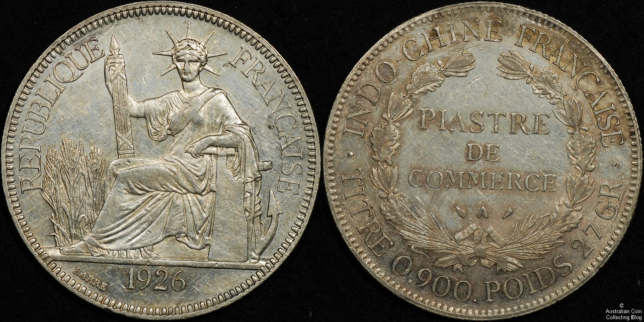 French Indo China 1926 Piastre EF