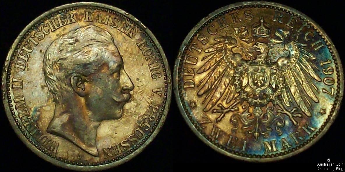 Germany 1907 2 Mark VF
