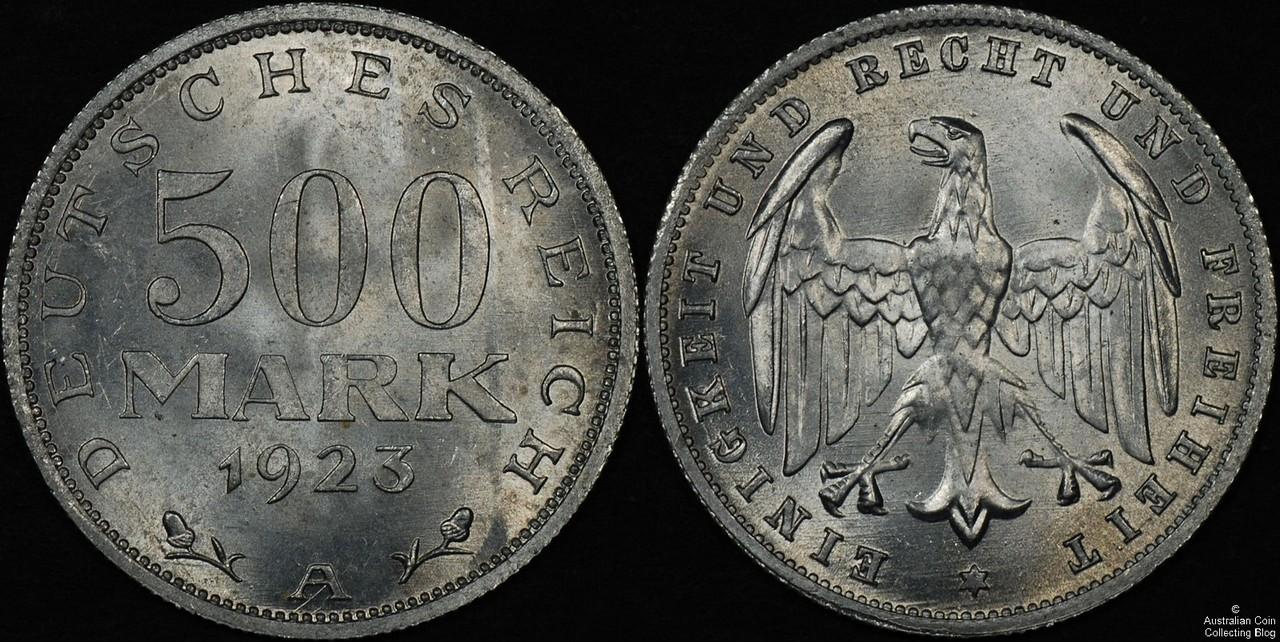 Germany 1923 500M CHUNC