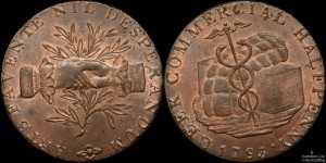 Great Britain 1793 1/2d Staffordshire Leek Conder Token