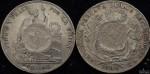 Guatemala 1894 1 Peso on 1884 Peru Sol Host