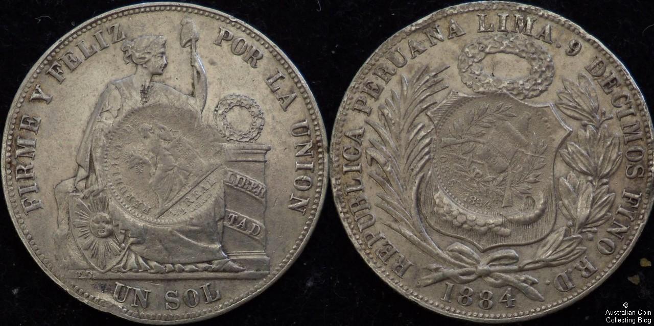 Guatemala 1894 1 Peso F