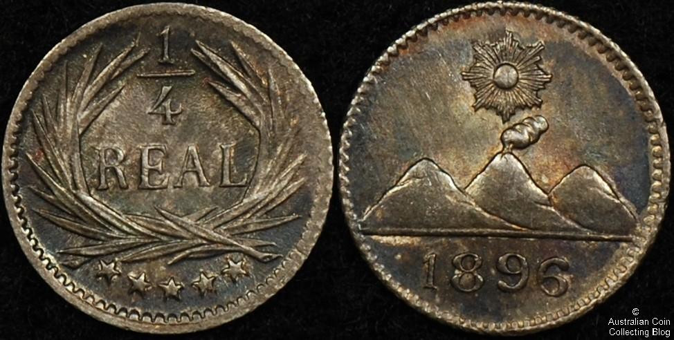 Guatemala 1896 1/4 Reale AU