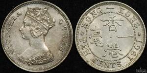 Hong Kong 1901 10 Cents
