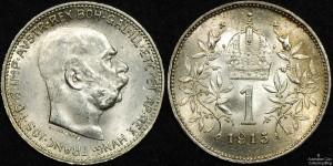 Hungary 1915 1 Korona