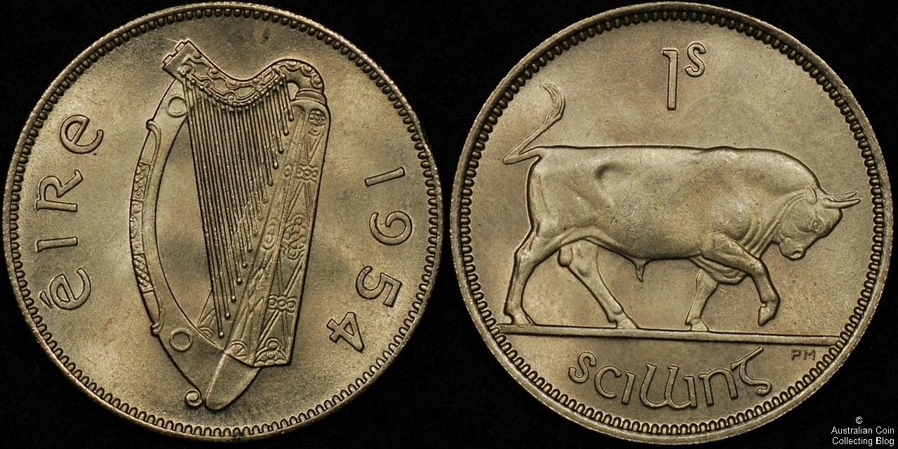 Ireland 1954 1s CHUNC