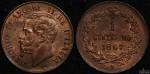 Italy 1867M 1 Centesimo