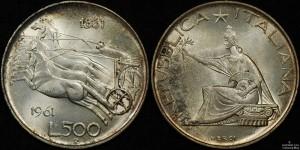 Italt 1961R 500 Lire