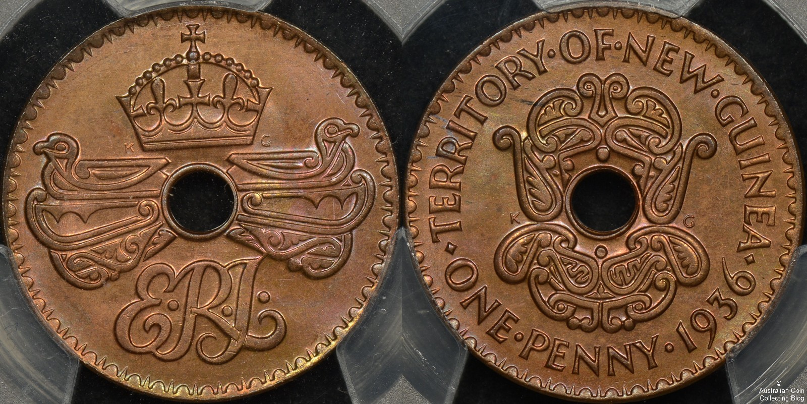 New Guinea 1936 Penny PCGS MS66RB