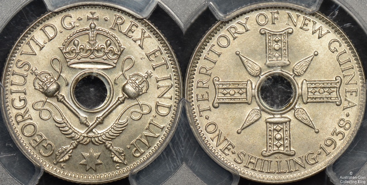 New Guinea 1938 Shilling PCGS MS66